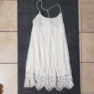 Altard state white crochet lace embroidered dress